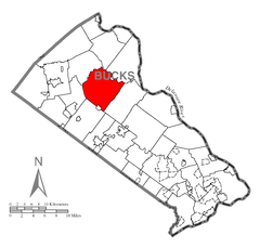 Map of Bedminster Township, Bucks County, Pennsylvania Highlighted.png