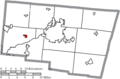 Map of Clark County Ohio Highlighting Donnelsville Village.png