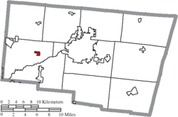 Location of Donnelsville in Clark County