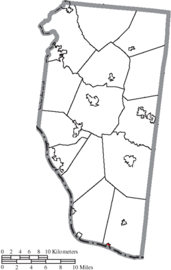 Location of Chilo in Clermont County
