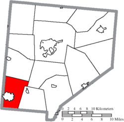 Location of Marion Township in Clinton County