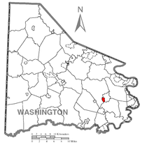 Map of Ellsworth, Washington County, Pennsylvania Highlighted.png