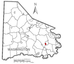 Location of Ellsworth in Washington County