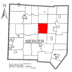 Location of Fairview Township in Mercer County