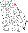 Map of Georgia highlighting Hart County.svg