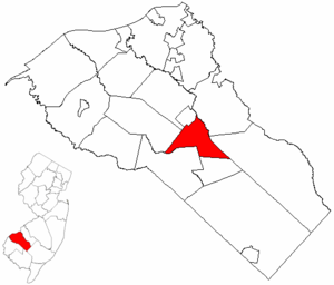 Glassboro, New Jersey - Image: Map of Gloucester County highlighting Glassboro