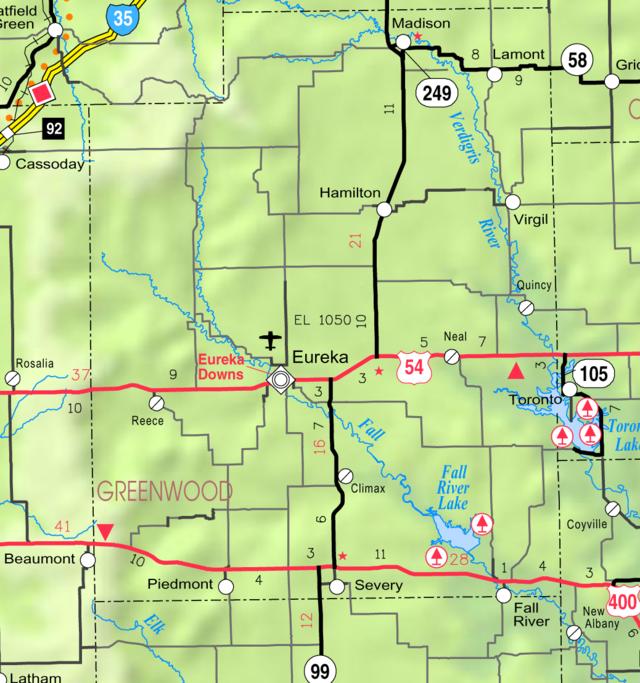 Milford Lake Kansas Map.Fall River Lake Wikiwand
