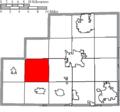 Map of Medina County Ohio Highlighting Chatham Township.png