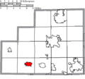 Map of Medina County Ohio Highlighting Lodi Village.png