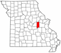 Map of Missouri highlighting Gasconade County.png