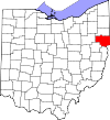 State map highlighting Columbiana County