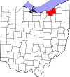 State map highlighting Cuyahoga County
