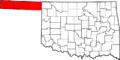 Map of Oklahoma highlighting Panhandle.png