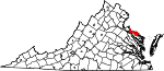 State map highlighting Westmoreland County