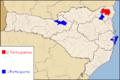 Mapa das cidades participantes do Campeonato Catarinense de Futebol Feminino 2012.png