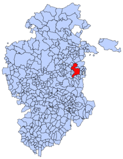 Municipal location of Belorado in Burgos province