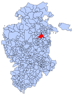 Municipal location of Briviesca in Burgos province