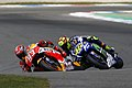 Marc Márquez and Valentino Rossi 2015 Assen 2.jpeg