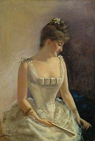 Maria Gażycz - Image: Maria Gażycz Dama w stroju balowym 1897