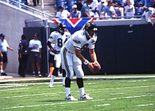 5d0f1ad4e56 Mark Brunell practicing with the Jaguars before their inaugural game on  September 3, 1995.