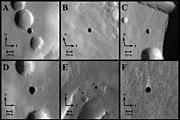 Mars caves from NASA orbiters