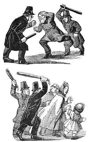 March Unrest - 1892 Söndags-Nisse cartoon.
