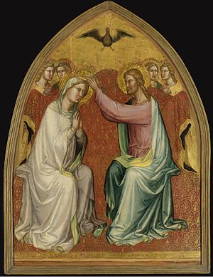 Martino di Bartolomeo - Coronation of the Virgin, on panel, ca. 1400, (Los Angeles County Museum of Art).