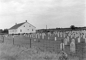 Waterloo County, Ontario - Many of the Mennonite places of worship were basic frame buildings; this type is still commonly used by Old Order Mennonite groups in the northern part of the Region