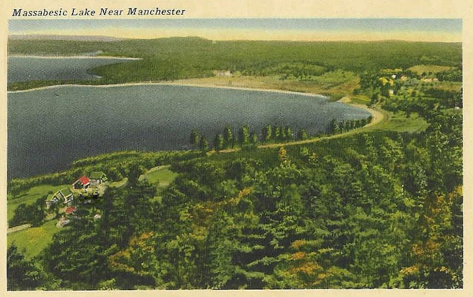 Massabesic Lake and the east shore in 1920