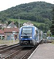Massiac Station, south of Claremont Ferrand with a Sunday IC service from Beziers to Claremont. - 14935110298.jpg