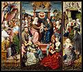 Master of Frankfurt, Meister von Frankfurt, Annenaltar, Festtagsseite, Die Familie der Heiligen Anna, 1492, Historisches Museum Frankfurt, Frankfurt am Main..jpg