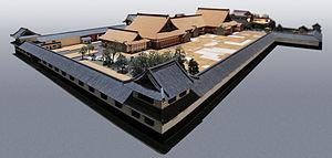 Kamiyashiki of Matsudaira Tadamasa - 1:30 scale architectural model of the residence, in the Edo-Tokyo Museum