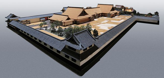 1:30 scale architectural model of the residence of the daimyo Matsudaira Tadamasa, in the Edo-Tokyo Museum