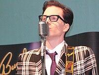 Matthias Bollwerk as Buddy Holly, 2010.jpg