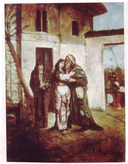 Maurycy Gottlieb - Recha Welcoming Her Father - 1877