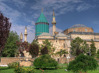 Turkey - Mevlana Museum in Konya was built by the Seljuk Turks in 1274. Konya was the capital of the Seljuk Sultanate of Rum (Anatolia).