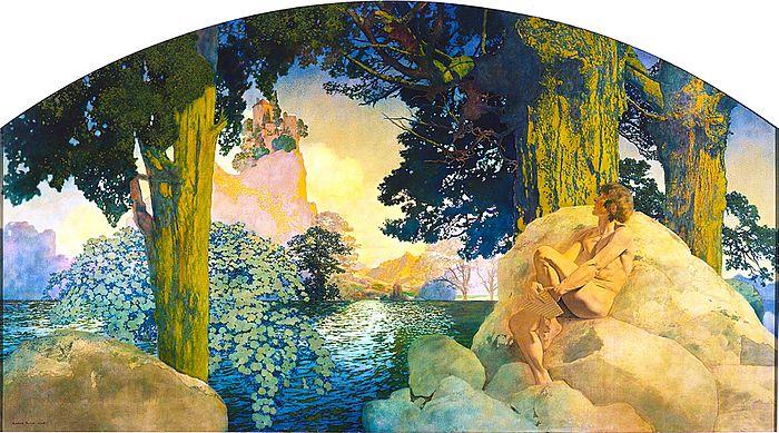 Maxfield Parrish - Dream Castle in the Sky (1908).jpg