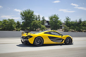 McLaren P1 - McLaren P1 in Race Mode while driving.