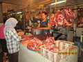 Meat products section in Denpasar market.JPG