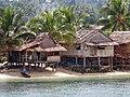 Medium shot of idyllic villages beach near Auki, the capital of Malaita. (10702263414).jpg