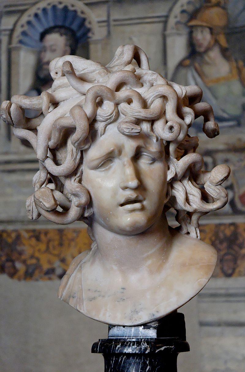 مِدوسا یا مِدوزا (به یونانی: Μέδουσα، به انگلیسی: Medusa) به معنی فرمانروا،  در اساطیر یونانی، یکی از گورگونها، دختر فورسیس و ستو و تنها فناپذیر در بین آنها بود. او میتوانست هر کس را که به چشمانش خیره میشد، تبدیل به سنگ کند.