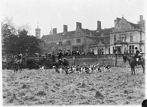 Hardwick House, Suffolk - Foxhunt, Hardwick House, circa 1900
