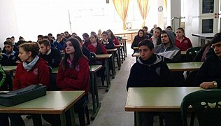 Meeting with Karen Jeppe Armenian College students, Aleppo, Syria. 01.jpg