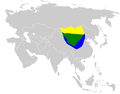 Melanocorypha mongolica distribution map.png