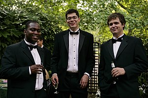 History of suits - Three men in 2006 wearing black tie variations.