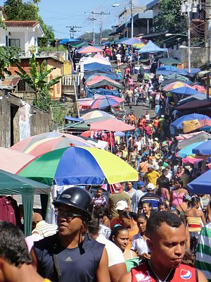 Caucagua - Open market in Caucagua.