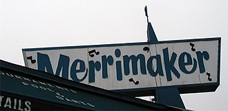 Dive bar - The outdoor signage of a dive bar in California.