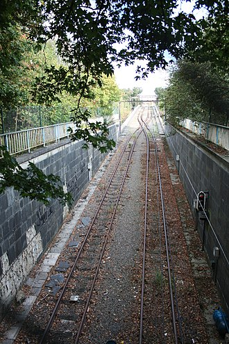 Charleroi Metro - Unused section between Waterloo and Neuville stations