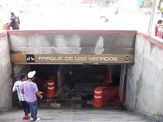 Metro Parque de los Venados - Entrance