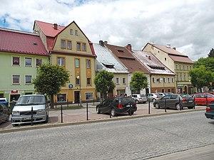 Międzylesie - Local architecture near main square